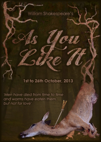Director of 'As You Like It' by William Shakespeare, at The Rose, Bankside, October 1 to 26, 2013